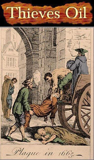 Victims of the Plague left in the streets